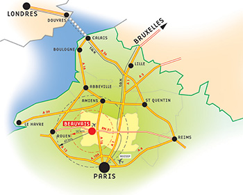 Beauvais location on a map