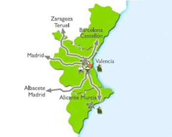 Valencia location