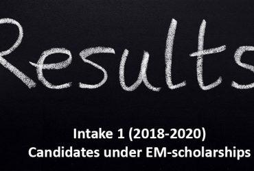 emPLANT, selection results, intake 1, scholarship, Erasmus Mundus