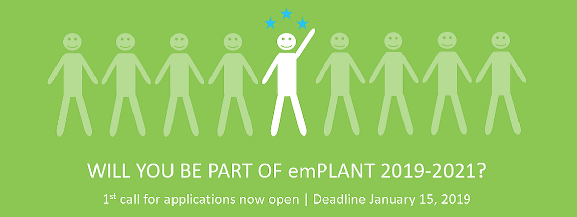 Call for emPLANT applications 2019-2021 is open
