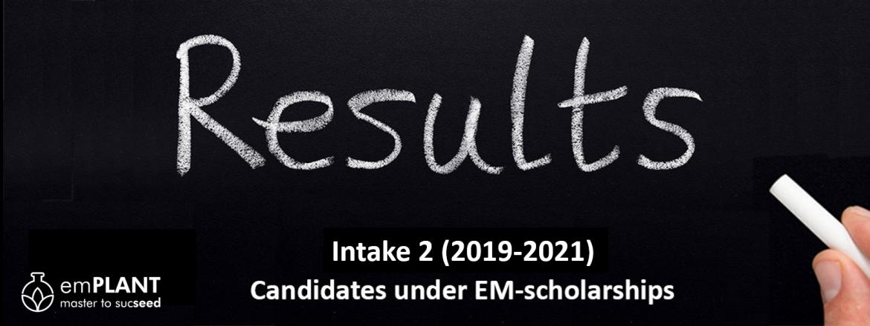 emPLANT, selection results, intake 2, scholarship, Erasmus Mundus