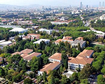 Ege University campus in Bornova