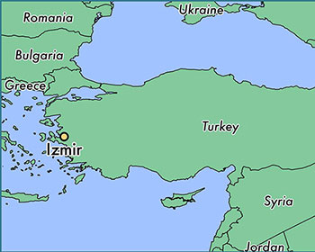 Izmir location in Turkey