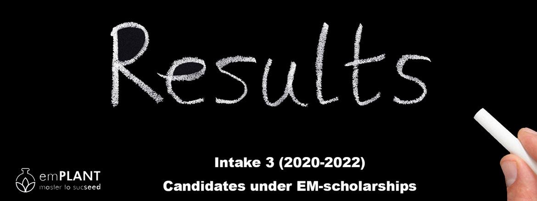 emPLANT, selection results, intake 3, scholarship, Erasmus Mundus