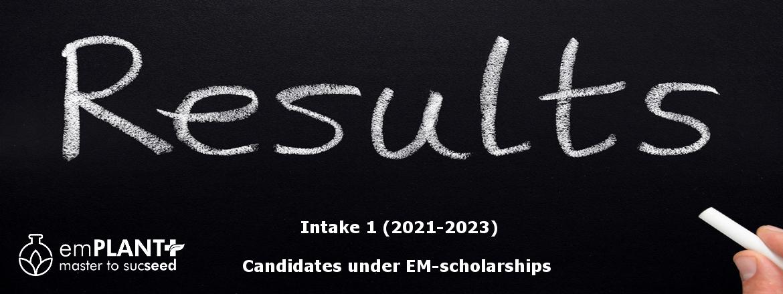 emPLANT+ Selection results, intake 1, scholarships, Erasmus Mundus
