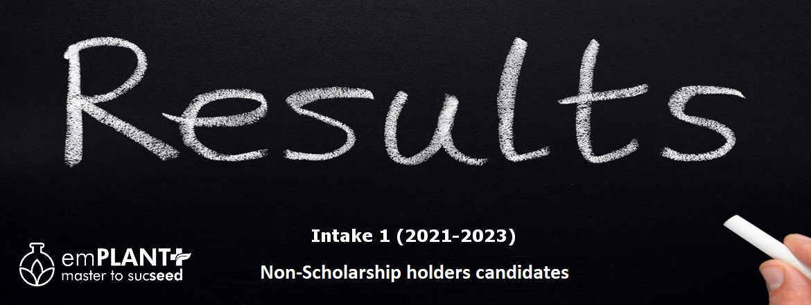 emPLANT+ Intake 1 - Non scholarship holders candidates